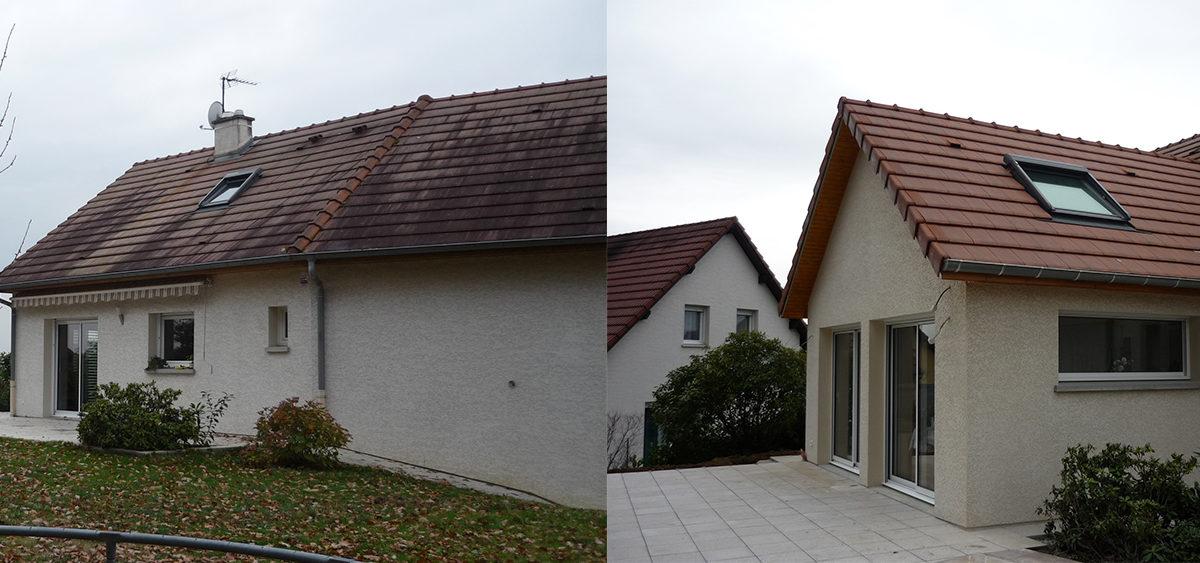 Projet d'agrandissement dans le Doubs : avant/après